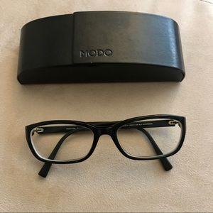 MODO Handmade in Japan Black Eyeglass Frame & Case